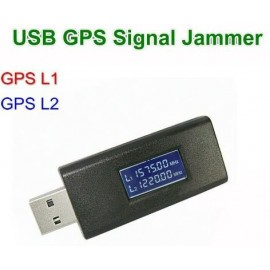 Portable GPS jammer, L1 and L2 GPS jamming