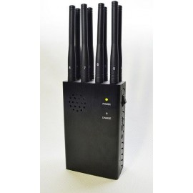 Portable cellphone Jammer with 8 bands and 25 m radius